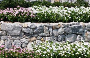 Prosper Texas Dry Stone Retaining Wall