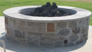 Outdoor Fire Pit, Stone Patios, Sol Vida Landscaping