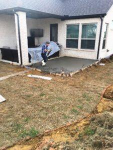 Finishing a Concrete Patio Slab