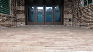 Laying Porcelain Tile Patio