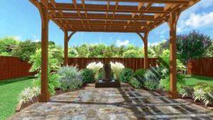 Backyard Patio Pergola Design