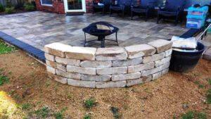Custom Stone Seating Area