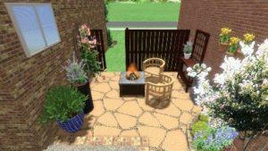 Small Backyard Landscaped Without Grass