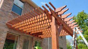 Wood Pergola Installed in Prosper Texas